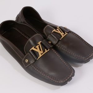 LOUIS VUITTON LV Monte Carlo Brown Leather Loafers